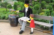 W parku Legoland uwieczniono rownież postać duńskiego bajkopisarza Hansa Christiana Andersena.