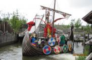 Statek Wikingów w parku Legoland.
