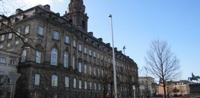 Duński parlament Folketinget w Kopenhadze