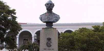 Pomnik duńskiego króla Chrystiana IX na wyspie St. Thomas
