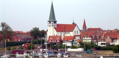 Duńskie miasto Rønne na wyspie Bornholm