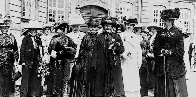 Duńskie kobiety po otrzymaniu praw wyborczych